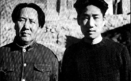毛泽东与长子毛岸英 1949 2