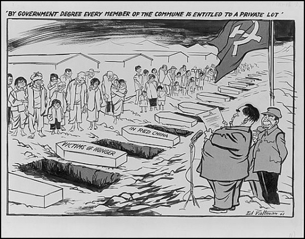 american cartoon on the great leap forward from 1961 everyday life
